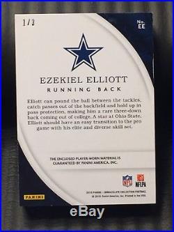 Ezekiel Elliott 2016 Immaculate Soles Worn Shoes Rookie 1/3 RC Cowboys Spikes