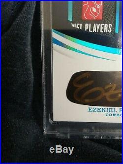 Ezekiel Elliott 2018 Immaculate Collection Eye Black NFL Laundry Tag Auto 1/1