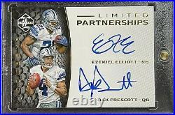 Ezekiel Elliott/Dak Prescott Dual on Card Rookie Auto-2016 Panini #17/25 Cowboys