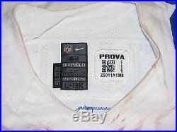 Ezekiel Elliott Game Used 2nd Career TD Jersey unwashed Dallas Cowboys Panini