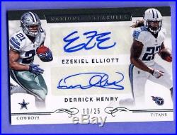 Ezekiel Elliott Henry 2016 National Treasures Autograph 10/25 #2 Cowboys Titans