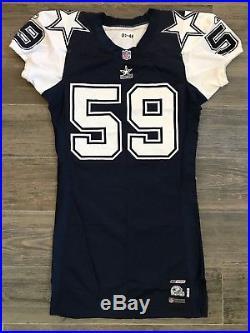 Game Used Reebok Dallas Cowboys Dat Nguyen Throwback Jersey