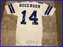 Gary Hogeboom #14 Dallas Cowboys NFL Game Worn Jersey VTG 1980-85 Adult Size 42