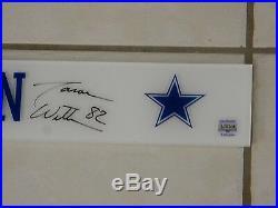 Jason Witten Used Autographed Stadium Locker Room Nameplate Dallas Cowboys COA