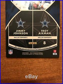 Jimmy Johnson Troy Aikman 2019 Gold Standard Double Auto DS-DAL Cowboys 1/1 HOF
