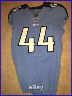 Josh Carraway Tennessee Titans 2017 Game Worn Used Jersey TCU Horned Frogs Nike