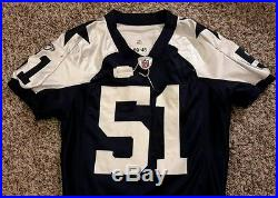 Keith Brooking Game Used Dallas Cowboys Throwback Helmet And Jersey! LOA