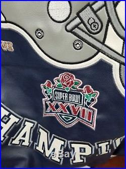 Large Vintage Dallas Cowboys 5x Champion Superbowl Jacket NFL Letterman Big Star