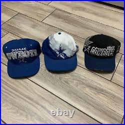 Lot Of 3 Vintage Sports Specialties Dallas Cowboys Snapback Hat Cap Splash