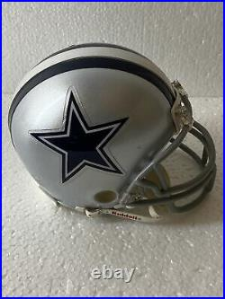 Lot of 3 NFL Dallas Cowboys Riddell Football Mini Helmets & Jerry's Book