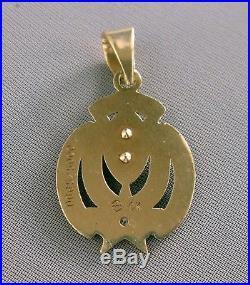 Ltd. Ed. DALLAS COWBOYS XXVII Super Bowl Champions 10K Gold Pendant+DiamondE971