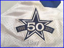 Marcus Dixon Authentic NFL Game WORN Issued Jersey Size 52 Dallas Cowboys