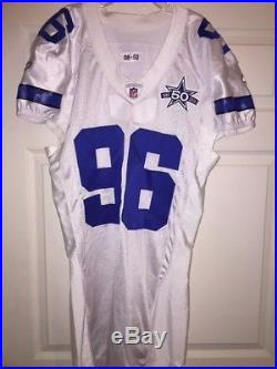 Marcus Spears Dallas Cowboys Game Used Worn Jersey 2010 50th Patch Matched LSU