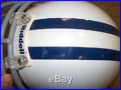 Marcus Spears Game Used Game Worn Throwback Helmet Dallas Cowboys
