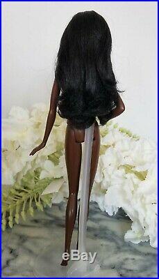 Mattel Barbie Dallas Cowboys AA Nude Doll Model Muse Dark Skin Cheerleader VHTF