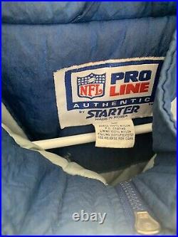 Mens Nfl Vintage Cowboys Jacket Blue Gray Silver Size Large