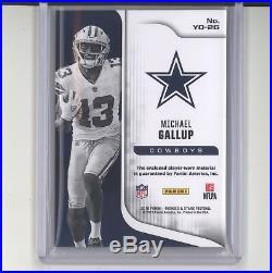Michael Gallup 1/1 tag patch card 2018 Panini Rookies & Stars NM Dallas Cowboys