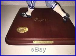 NFL Danbury Mint Roger Staubach Qb Dallas Cowboys Figurine & Coa