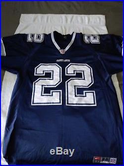 dde358157 NFL OG Authentic Classic Nike Emmitt Smith Dallas Cowboys Jersey Blue Size  48