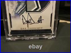 National Treasures On Card Autograph Jersey Cowboys Dak Prescott 35/99 2016