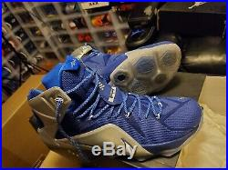 Nike LeBron James XII 12 What If Dallas Cowboys Royal Blue Size 14- 684593 410