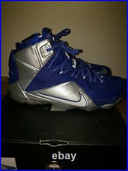Nike Lebron XII 1 2 3 4 5 6 7 8 9 10 11 Royal Blue Silver Dallas Cowboys Sz 13
