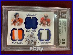 Payton Manning Emmitt Smith Jerry Rice 2018 Flawless Game Used Patch 1/5 BGS 8.5