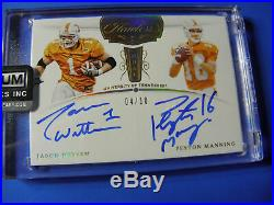 Peyton Manning Jason Witten Flawless Dual Auto 4/10 Volunteers Cowboys Colts