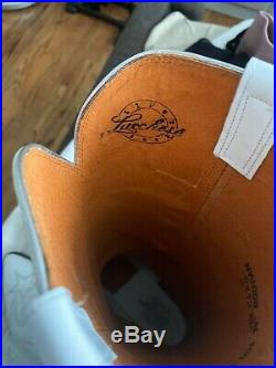 Preowned Lucchese Dallas Cowboys Cheerleader White Womens cowboy boots size 10B