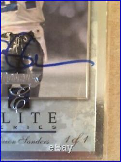 RARE 1/1 Deion Sanders AUTO BUYBACK From 2017 Classics MUST SEE