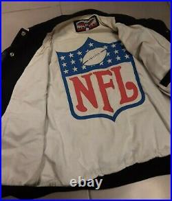 RARE Men Vintage Dallas Cowboys NFL Leather Big Helmet Sz M Jacket Jeff Hamilton