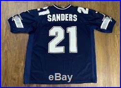 RARE Vtg 90s Pro LINE 1996 Deion SANDERS Dallas COWBOYS Authentic Jersey NFL L