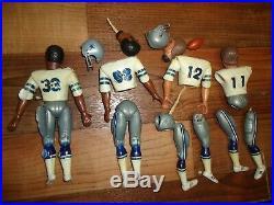 RARE vintage original NFL action team mate Dallas Cowboys figure lot