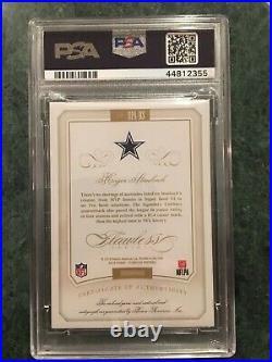 ROGER STAUBACH 2015 Flawless Patch On-Card Auto #'d/5 PSA 10 / Cowboys / HOF