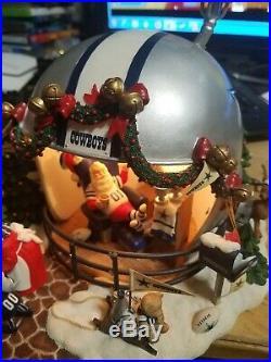 Rare Danbury Mint Dallas Cowboys GAME DAY AT SANTAS Christmas Theme Helmet