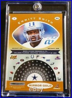 Rare Emmitt Smith 1997 Pinnalce Certified Mirror Gold #1 Cowboys Hof (361)