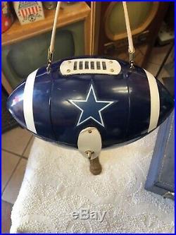 Rare & Exceptional 1970s Blue Plastic Dallas Cowboys Football Purse