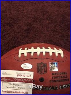 Rare Jason Witten Signed Duke Cowboys MilItary Game Used Football, JSA