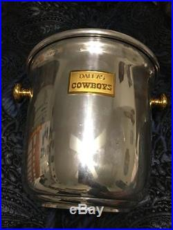 Rare Unique Dallas Cowboys Ice Bucket Aluminum