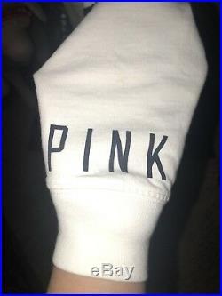 Rare Victorias Secret PINK NFL Dallas Cowboys White Varsity Crew Size XS EUC