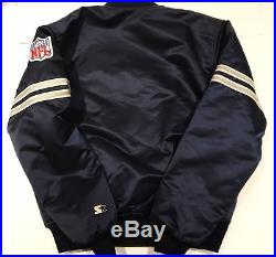 Rare Vintage 80's Dallas Cowboys Starter NFL Satin Jacket Size XL