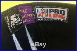 Rare Vintage 90s Dallas Cowboys Starter Double Shockwave Hat Darkside Slasher