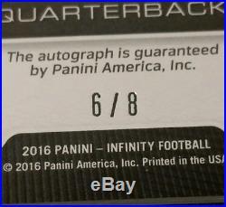 SSP GOLD DAK PRESCOTT RC AUTO /8 2016 Panini Infinity #209 RARE ROOKIE EBAY 1/1