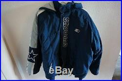 Starter Dallas Cowboys Winterjacke Oldschool über 20 Jahre Alt XL TOP
