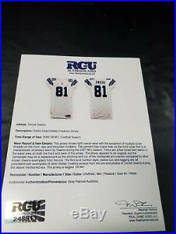Terrell Owens Game Used Cowboys Jersey