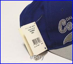 Throwback Dallas Cowboys 90's Starter Tags Wool Pro Line Snapback HAT Script Dak