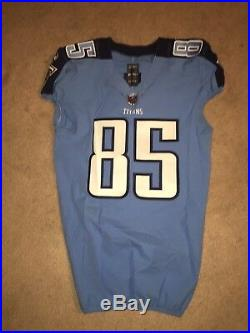 online store 3a9e4 99e8f Tim Semisch Tennessee Titans 2017 Game Worn Used Jersey NIU ...