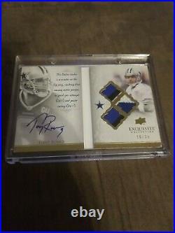 Tony Romo 2009 EXQUISITE auto-biography /35 Autograph patch UPPER DECK