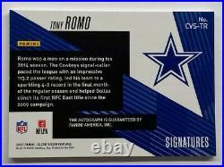 Tony Romo 2015 PANINI CLEAR VISION Autograph 10/25 #CVS-TR