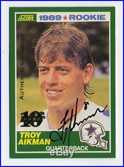 Troy Aikman 1999 Score Autograph Auto #47/100 Dallas Cowboys QB HOFer BV $250